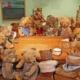 Teddybärensammlung in der Ausstellung