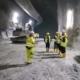 Besucher an der Baustelle des Brennerbasistunnel in Tirol