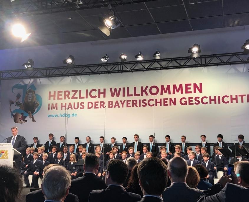 Ministerpräsident Dr. Markus Söder beim Festakt Museumseröffnung Regensburg