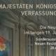 """Ausstellungsplakat Ausstellung """"Majestäten, Königskinder, Verfassungsväter. Die Neue Residenz im langen 19.Jahrhundert"""""""